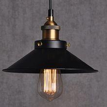 Frete grátis Dia 22 cm cobre E27 base de luz negra 110 V ou 220 V Edison lâmpada lâmpadas de iluminação bar café do vintage pingente luzes(China (Mainland))