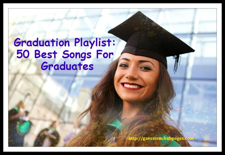 Customize a graduation playlist using these rock, pop, R&B, and country favorites. Choose from songs that uplift and encourage, reflective graduation songs and bittersweet songs that say goodbye.