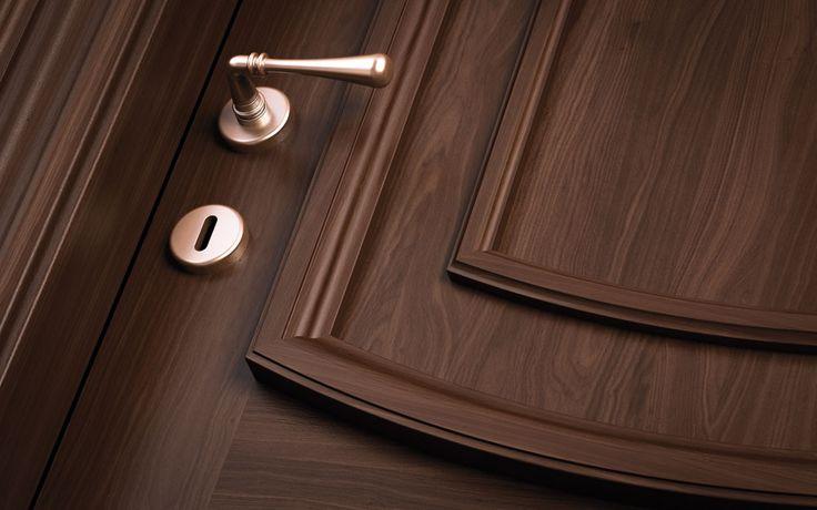 FBP porte | Collezione Vittoria: Dettaglio fermabugna - Optional stop frame. #porta #legno #madeinitaly #ottocentostyle #wooden #door