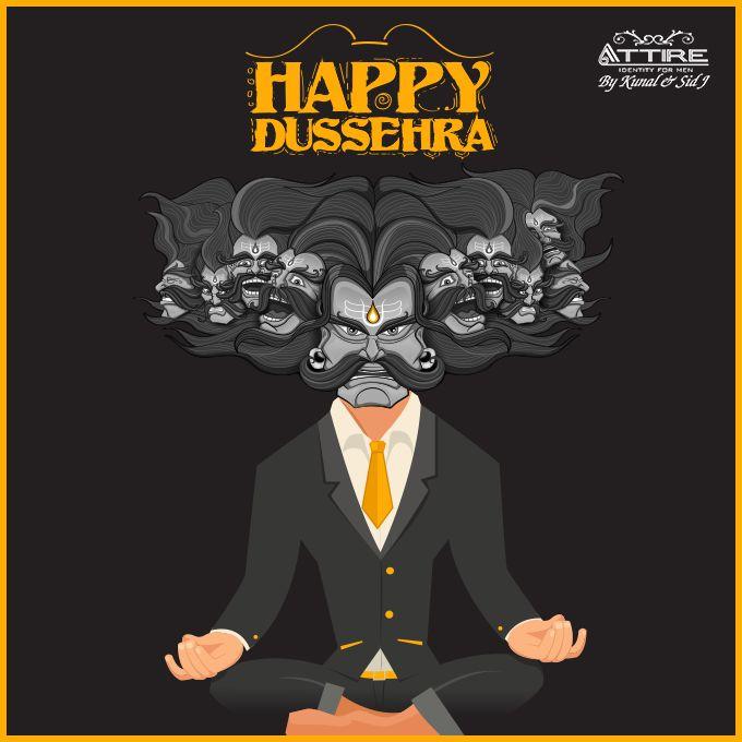 Attire Wishing you a very Happy #Dussehra! #Festival #Dussehra #SetEvilonFire #Vijayadashami #LordRama #Celebrations #Fashion #Ravana #Attire