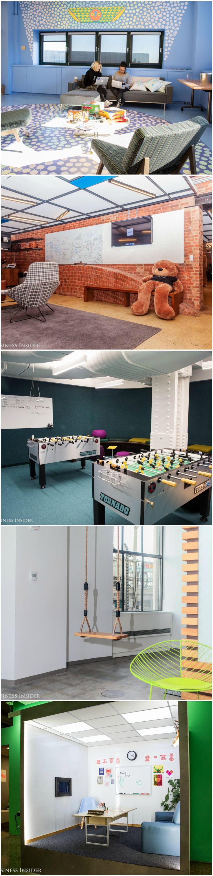 Take a look at the cool spaces where employees at panies like LinkedIn and Uber hang out when they re not at their desks
