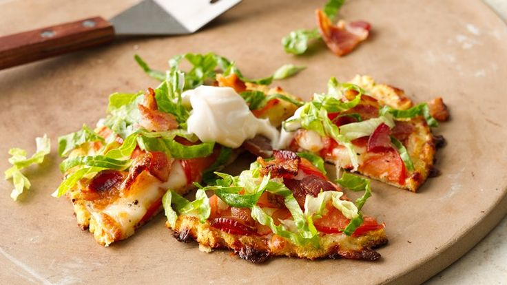 If you've gone gluten free and tried almond flour, rice flour and tapioca flour, maybe it's time to try cauliflower with this veggie-crusted BLT pizza.