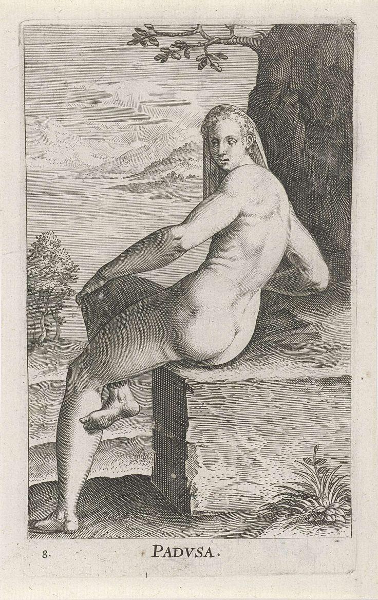 Waternimf Padusa, Philips Galle, 1587