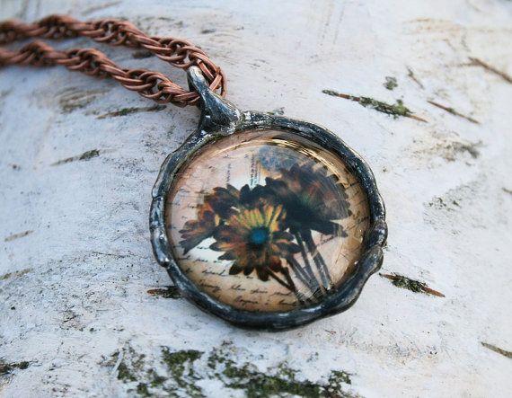 flower pendant statement pendant romantic by Blacksmithworkshop