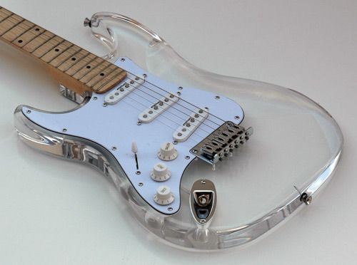 New Lefty Clear Lucite Acrylic Strat Left Handed Guitar price:$199.00 - For Sale