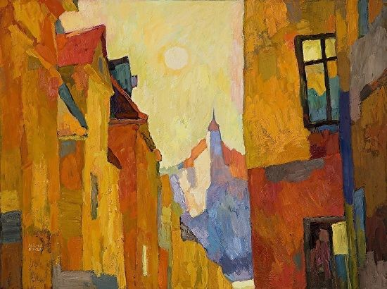 6 Hours in Stockholm by Larisa Aukon Oil ~ 30 x 40