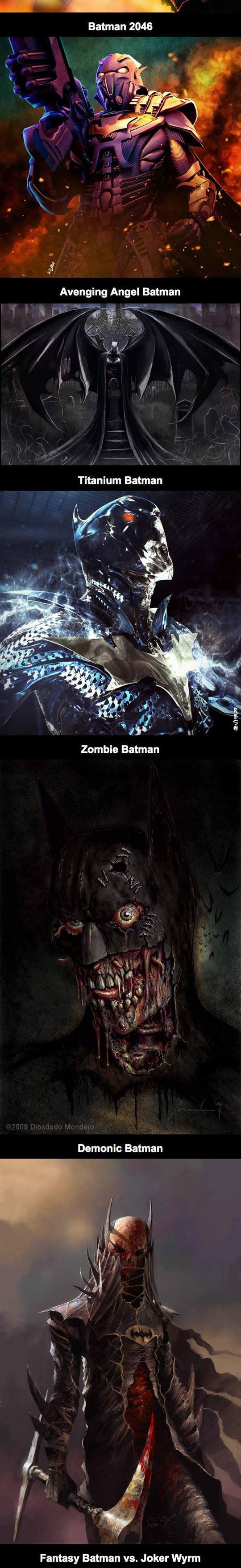 funny-Batman-illustrations-medieval-future-ages-zombie