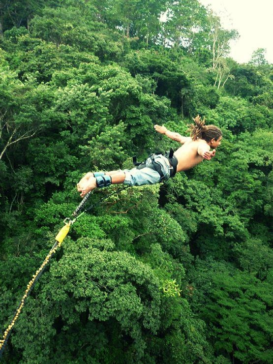 Costa Rica  a new meaning for that word, Bungee Jumping !