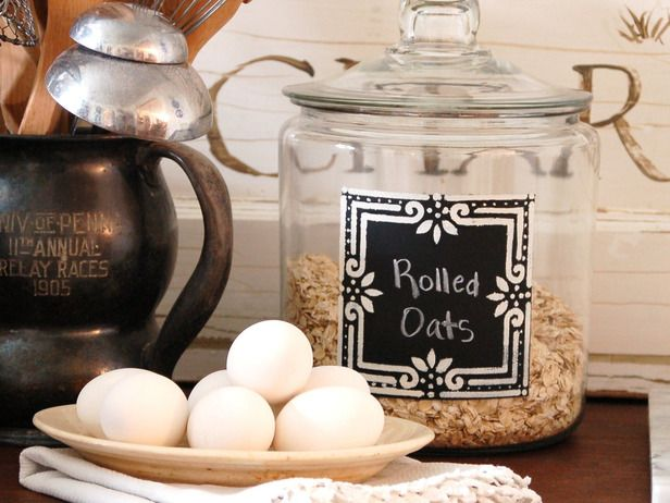 Marian Parsons Chalkboard Kitchen Canisters
