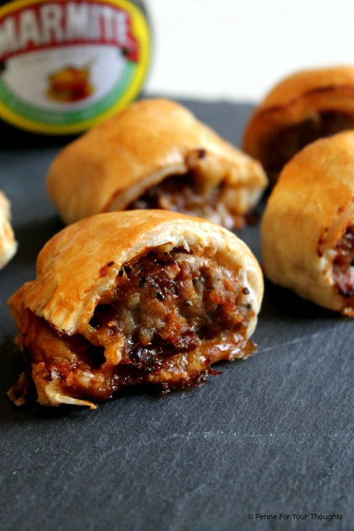 Cheesy Marmite Sausage Rolls | penne for your thoughts