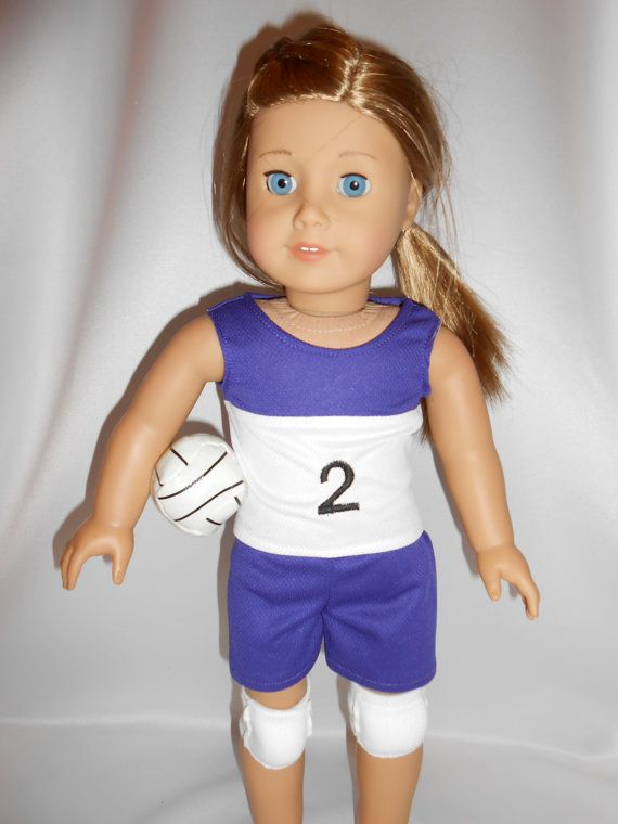 18 Doll Volleyball Outfit For American Girl By Pleasantcompany01 $20.00 | American Girl Doll ...