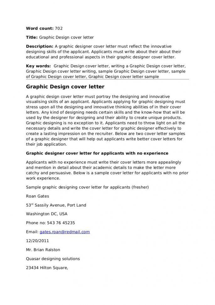 cover letter for graphic designer with experience concepts brand designing generate design presentations logos ejemplo de - Ejemplo De Cover Letter