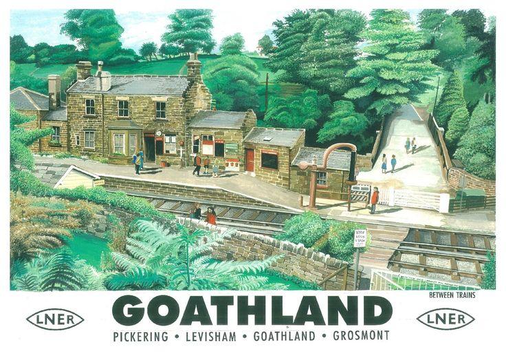 220 Vintage Railway Art Poster Goathland North Yorks (Heartbeat) *FREE POSTERS | eBay