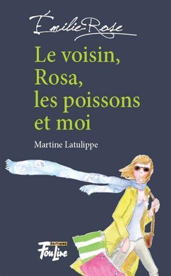 Le Voisin, Rosa, les poissons et moi #01 / MARTINE LATULIPPE - Série de romans mettant en scène les tourments d'Émilie-Rosie, une adolescente de 17 ans maladroite et timide. Ici, l'adolescente est tiraillée entre son désir d'accomplir de grandes choses et celui plus superficiel d'être tout simplement à l'aise avec les garçons. Un travail pour son cours de français permet à Rosie de découvrir Rosa Park, la mère du mouvement des droits civiques aux États-Unis.
