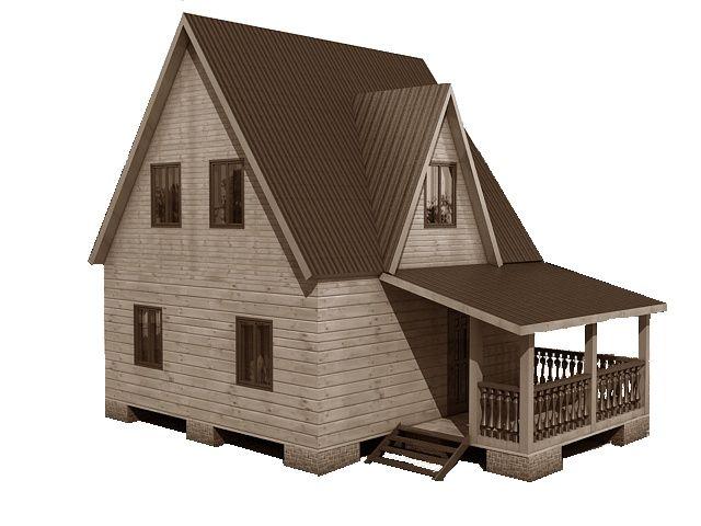 Готовый проект каркасного дома 6X8 от Строительной компании «ДОМ МЕЧТЫ».