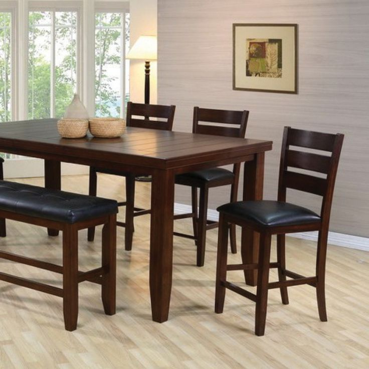 The Crown Mark Bardstown Counter Height Table Set At Local Furniture Outlet Would Be A Great Item To Purchase In Austin Texas