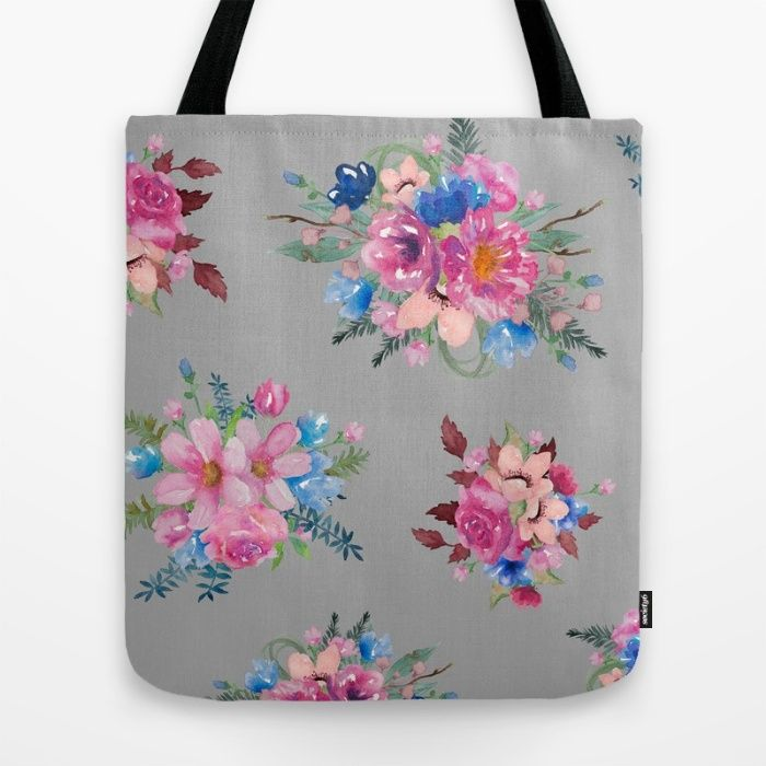 Prettiest Petals Tote Bag by The Willow Wood Studio | Society6