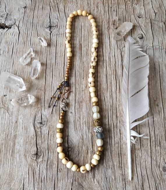 Om mani padme hum yoga necklace  spiritual yoga ethnic by OmSaha