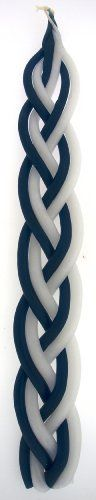 Ner Hatsafon Paraffin Havdalah Candle in Blue and White by World of Judaica. $2.00. This Ner Hatsafon Paraffin Havdalah Candle features blue and white wax covered wicks and a traditional braiding pattern as well as four wicks at the top.