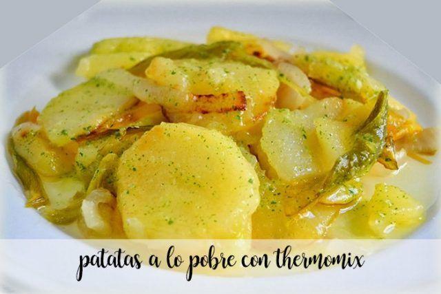 Patatas A Lo Pobre Con Thermomix Recetas Para Thermomix Receta Recetas Con Patatas Recetas De Cocina Patatas