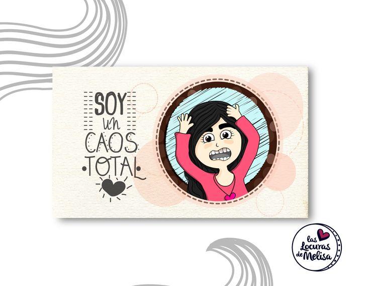 """""""Un caos total"""" Ilustración digital Melisa Amaya Ilustradora & diseñadora © Todos los Derechos Reservados"""