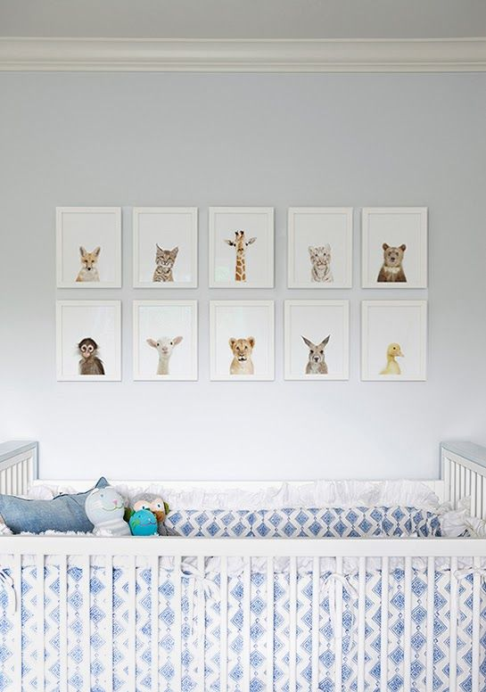 Baby animals baby nursery #home #decor #interior