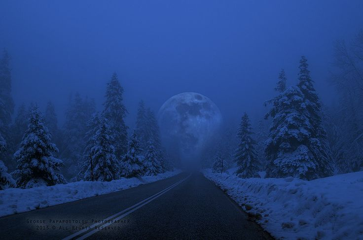Full Moon in snowy landscape!