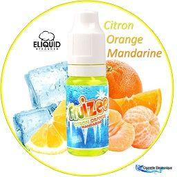 E-Liquide Fruizee Citron Orange Mandarine XTRA FRESH d'ELIQUID FRANCE, 100 % Français. Différents niveaux de nicotine pour s'adapter à chacun. Faites confiance au leader du E-Liquide ELIQUID FRANCE