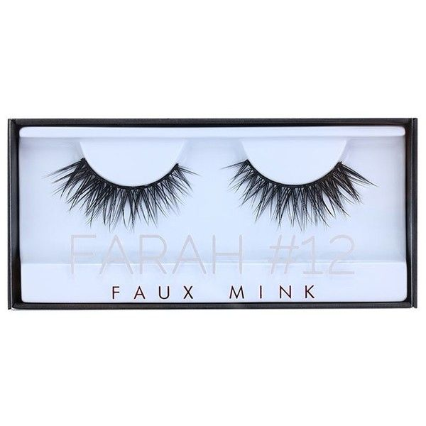 HUDA BEAUTY Faux Mink Lash Farah found on Polyvore featuring beauty products, makeup, eye makeup, eyebrow makeup, eyebrow cosmetics, brow makeup and eye brow makeup