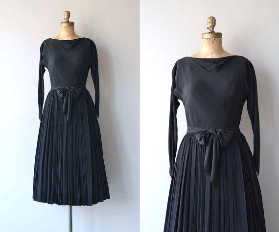 Robe Claire McCardell | robe vintage des années 1950 | robe noire des années 50