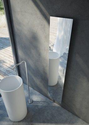 specchio radiante total mirror radiatori con lavabo design