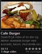 Har du også brug for en stor mega og kæmpe Café Burger i ny og næ, som er så stor at den kræver en pind igennem sig for at holde den sammen så klik, spis og vær glad...