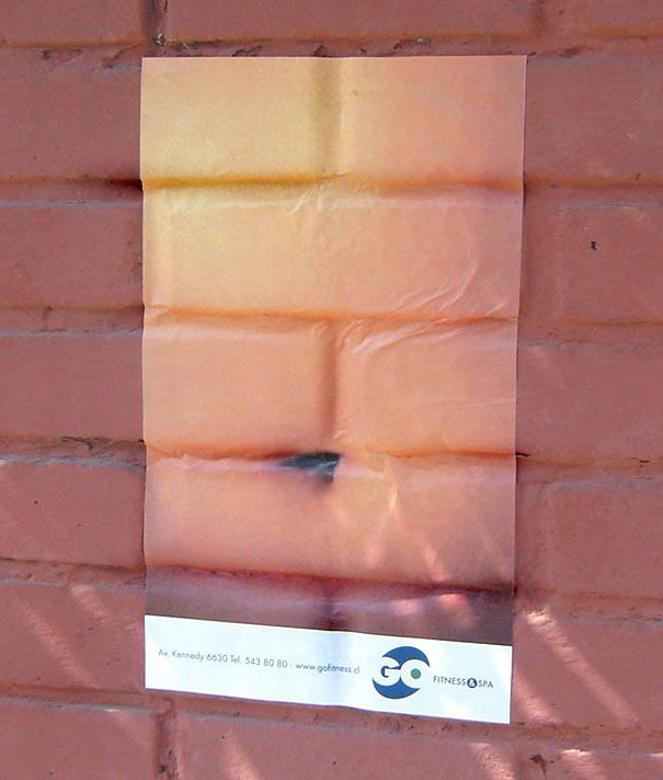 abs from bricks gym ad #StreetMarketing