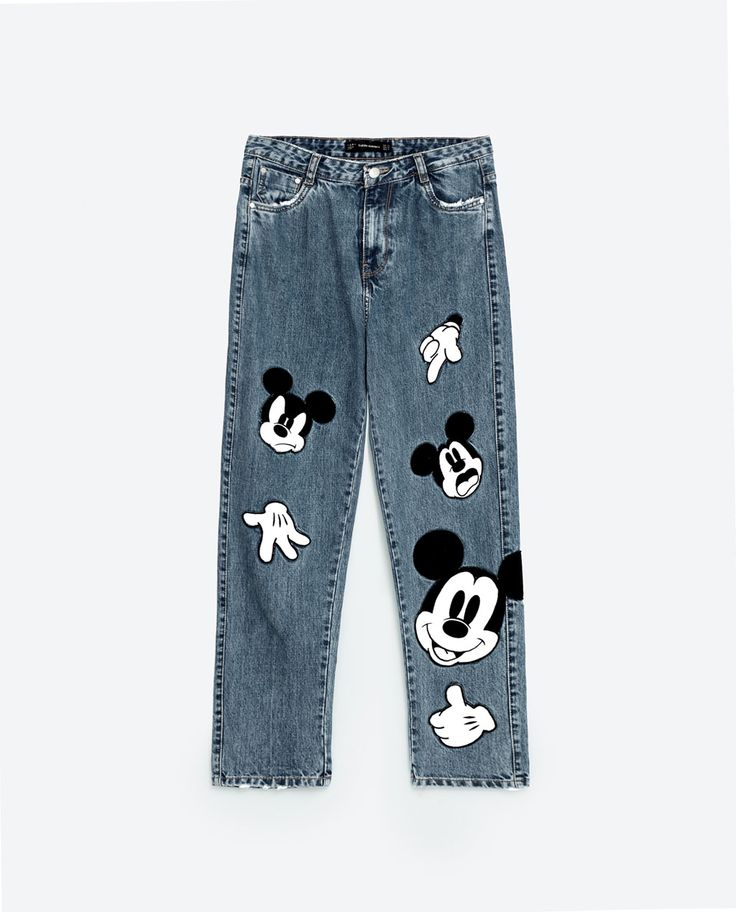 Mickey Mouse PRINTED JEANS from Zara