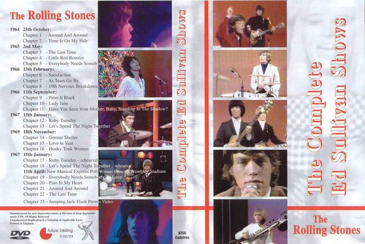Rolling Stones : The Complete Ed Sullivan Shows (2 DVD Set)