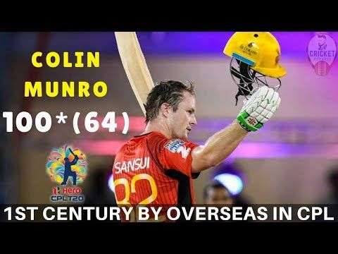 Colin Munro - The First Overseas Player To Score Century In CPL T20 Cricket - (More info on: https://1-W-W.COM/Bowling/colin-munro-the-first-overseas-player-to-score-century-in-cpl-t20-cricket/)