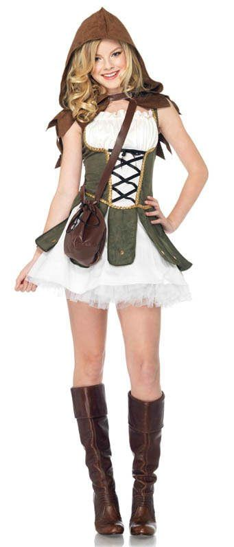 Teen Robin Hood halloween costume with petticoat. So cute <3