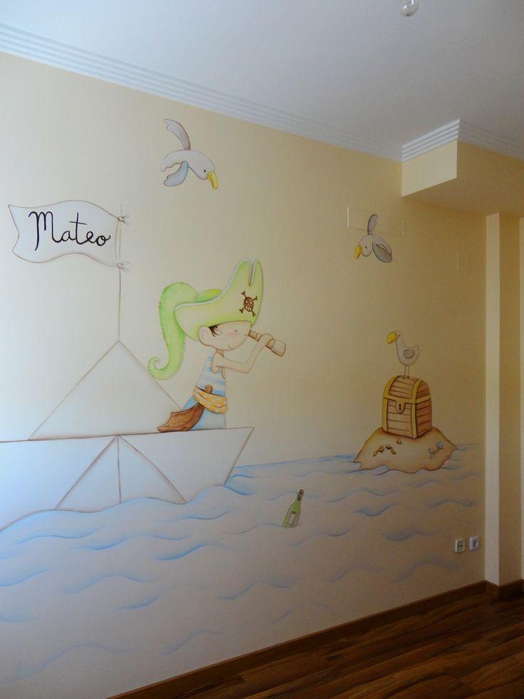 117 mejores im genes sobre murales infantiles en pinterest - Decoracion infantil paredes ...