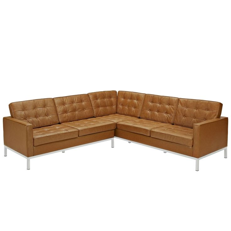 modway loft lshaped leather sectional sofa