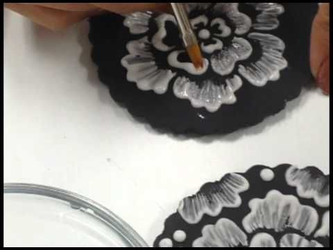Brush Stroke Embroidery with Culinary Stencils