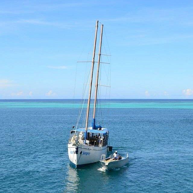 #fiji #ocean #sea #beach #blue #turquoise #seaspray #hms #boat #yacht #perfect #beautiful