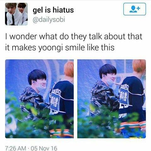 jhope makes everyone smile>>> especially Yoongi
