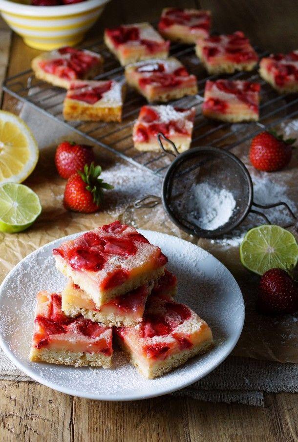 Strawberry Lemon Lime Bars / Patty's Food