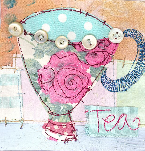 Rosie Tea Cup by Pricilla Jones