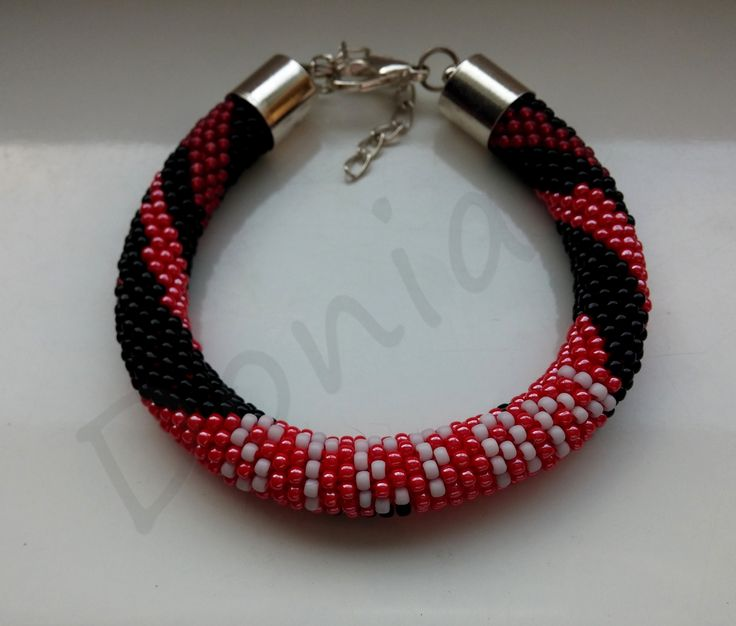 Bead Crochet Bracelet - Stefan Salvatore / The Vampire Diaries Edition