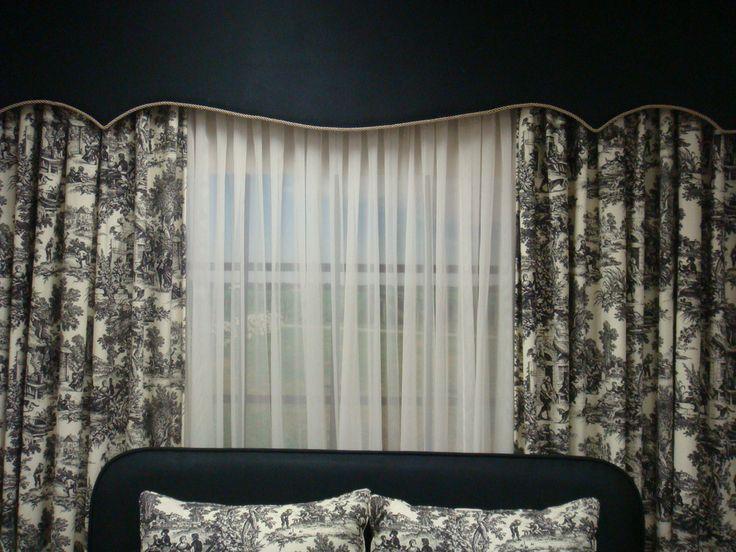 Classic drapes and cornice box!