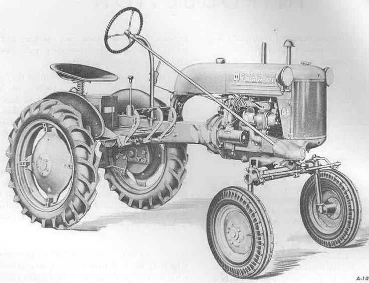 tractor coloring pages farmall b - photo#31