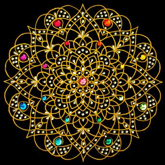"""Rain and Sun"" mandala - art by Prem Shashi Mandala Gallery (Mandalascapes)"
