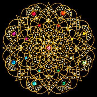 "⊰❁⊱ Mandala ⊰❁⊱  "" Lluvia y Sol "" mandala - arte por Prem Shashi Mandala Gallery (Mandalascapes)"