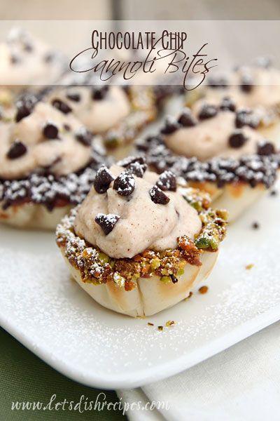 Chocolate Chip Cannoli Bites